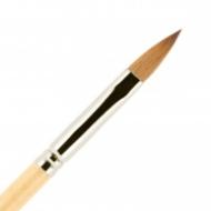 Кисть для ногтей (акрил) ВАЛЕРИ-Д из волоса колонка №7 лепесток: фото