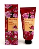 Крем для рук с розой FARMSTAY Pink flower blooming hand cream pink rose 100 мл: фото