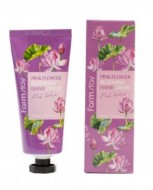 Крем для рук с розовым лотосом FARMSTAY Pink flower blooming hand cream pink lotus 100 ml: фото