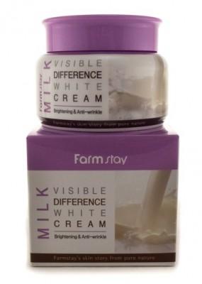 Крем увлажняющий с молочными протеинами FARMSTAY Visible difference Milk white cream 100г: фото