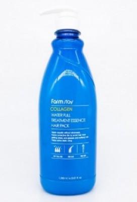 Маска для волос увлажняющая с коллагеном FARMSTAY Collagen water full moist essence hair pack 1000мл: фото