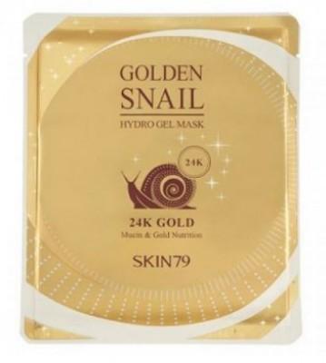 Гидрогелевая маска с улиточным муцином и золотом SKIN79 Golden snail gel mask 24К 25г: фото