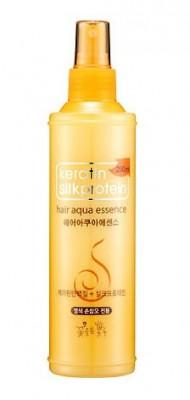 Укрепляющая эссенция для волос с кератином и протеинами шелка COSMOCOS Keratin silkprotein hair aqua essence 250мл: фото