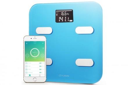 Умные весы YUNMAI color, голубые: фото