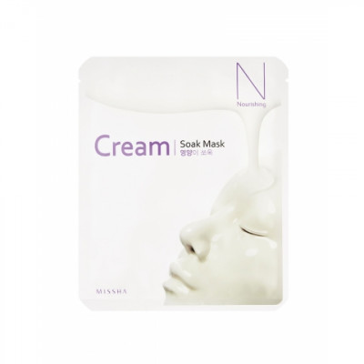 Маска тканевая питательная MISSHA Cream-Soak Mask [Nourishing] 23г: фото