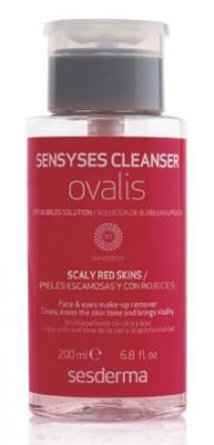 Липосомальный лосьон для снятия макияжа для кожи склонной к покраснению и шелушению SESDERMA Sensyses cleanser ovalis 200 мл: фото