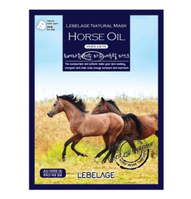 Тканевая маска с лошадиным маслом LEBELAGE Horse Oil Natural Mask, 23г: фото