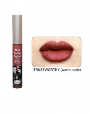 Стойкий матирующий блеск для губ TheBalm Meet Matte Hughes Trustworthy: фото