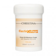 Крем увлажняющий для сухой кожи CHRISTINA Elastin Collagen Carrot Oil Moisture Cream with Vit. A, E & HA 250 мл: фото