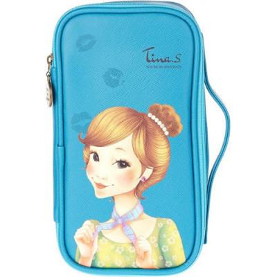Косметичка FASCY PUNGSEON Tina PU Beauty Pouch blue: фото