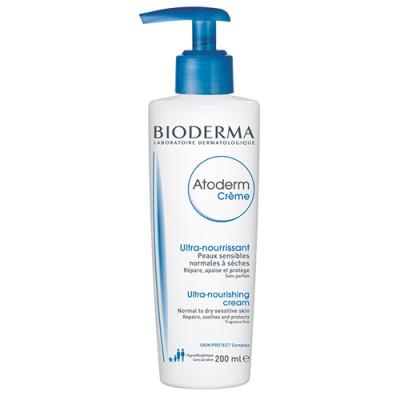 Крем с помпой Bioderma Atoderm 200мл: фото