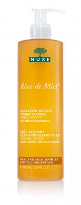 Очищающий обогащённый гель для лица и тела Nuxe, Reve De Miel 400 мл: фото