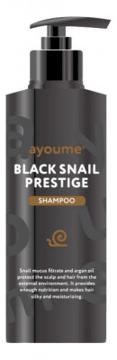 Шампунь для волос с муцином улитки Ayoume black snail prestige shampoo 240 мл: фото