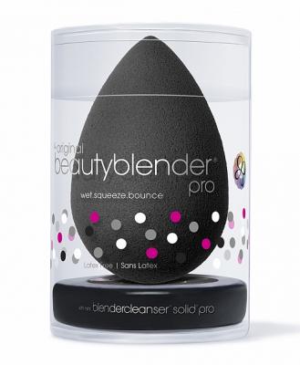 Набор косметический Beautyblender Pro+: Blendercleanser Solid Спонж черный + мыло: фото