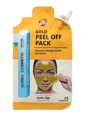 Маска-пленка очищающая Eyenlip GOLD PEEL OFF PACK 25гр: фото