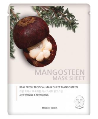 Маска тканевая с экстрактом мангостина JUNGNANI REAL FRESH TROPICAL MASK MANGOSTEEN 25мл: фото