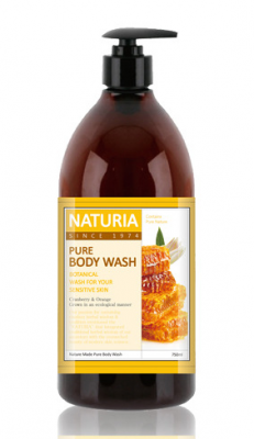 Гель для душа МЕД и ЛИЛИЯ EVAS NATURIA PURE BODY WASH Honey & White Lily 750 мл: фото