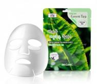 Тканевая маска для лица ЗЕЛЕНЫЙ ЧАЙ 3W CLINIC Fresh Green tea Mask Sheet 10 шт: фото