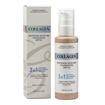 Тональная основа с коллагеном 3в1 Enough 3in1 Collagen foundation #13 100мл: фото