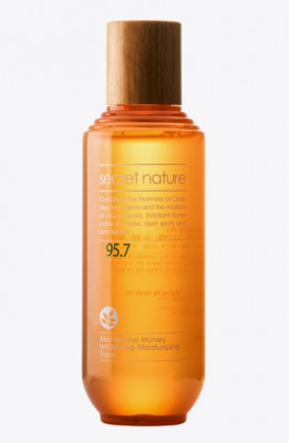 Тонер с экстрактом мандарина и прополиса Secret Nature Mandarine Honey Whitening Moisturizing Toner 130 мл: фото