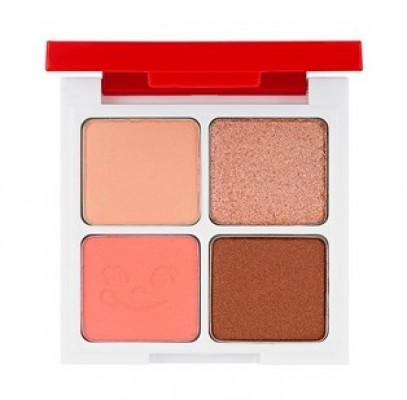 Палетка теней Holika Holika Peko Jjang Piece Matching 4 Colors Shadow Palette 01 клубничная карамель 6г: фото