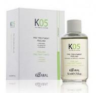 Капли для предварительного нанесения (Лосьон для глубокого очищения кожи головы) Kaaral К05 Pre Treatment Peeling 50 мл: фото