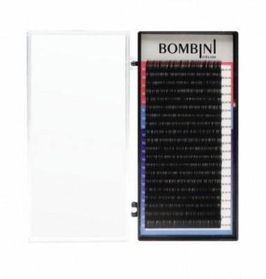 Ресницы Bombini Черные, 20 линий, изгиб С – MIX 8-14 0.05: фото