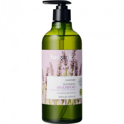 Шампунь для волос успокаивающий Лаванда Ausganica 500 мл: фото
