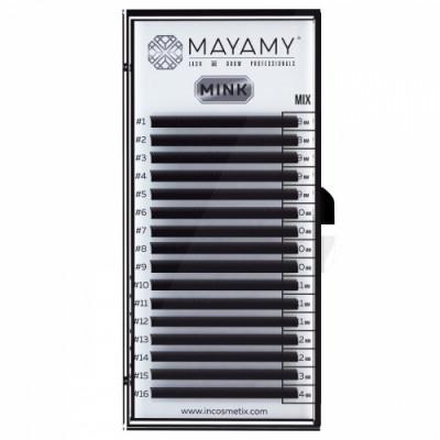 Ресницы MAYAMY MINK 16 линий D 0,05 MIX: фото