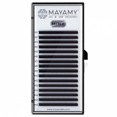 Ресницы MAYAMY MINK 16 линий D 0,10 9 мм: фото