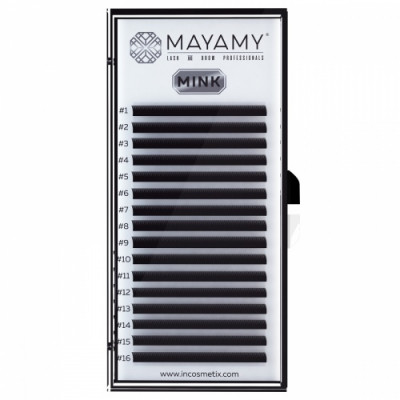 Ресницы MAYAMY MINK 16 линий С 0,05 9 мм: фото